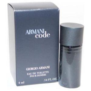 Mini Armani Code by Giorgio Armani 0.14 oz EDT for men