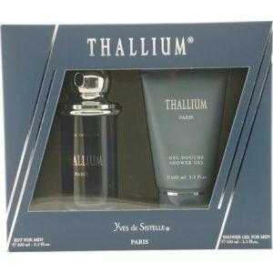 Thallium by Yves de Sistelle 2pc EDT 3.3 oz + Shower Gel 3.3 oz Gift Set for Men
