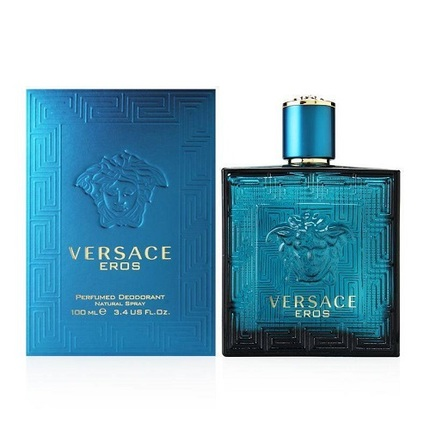 Versace Eros by Versace 3.4 oz Perfumed Deodorant Spray for men