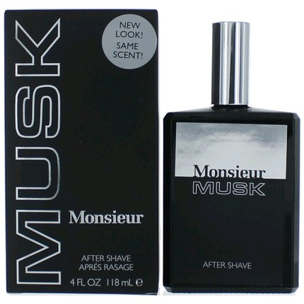 Monsieur Musk by Dana 4 oz Aftershave for men