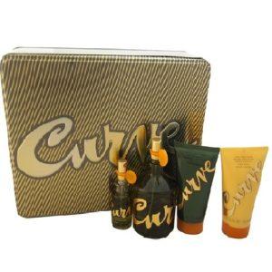 Curve by Liz Claiborne 4pc Gift Set EDC 4.2 oz + Aftershave 3.4 oz + Body Wash 2.5 oz + Mini for Men