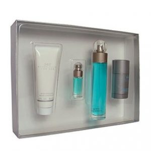 360 by Perry Ellis 4pc Gift Set EDT 3.4 oz + Aftershave Balm 3.0 oz + Deodorant Stick + Mini 0.25 oz for Men