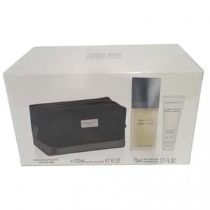 L'eau D'Issey by Issey Miyake 3pc Gift Set EDT 4.2 oz + Shower Gel 2.5 oz + Toiletry Bag for Men
