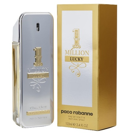 1 Million Lucky by Paco Rabanne 3.4 oz EDT for men