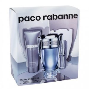 Invictus by Paco Rabanne 3pc Gift Set For Men EDT 3.4 oz + All over Shampoo 2.5 oz + Mini 0.34 oz for Men
