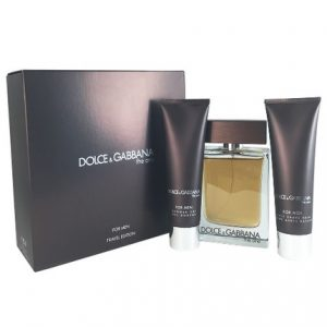 The One Men by Dolce & Gabbana 3pc Gift Set 3.3 oz EDT + After Shave Balm 1.6 oz + Shower Gel 1.6 oz