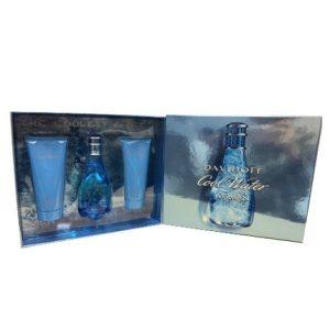 Cool Water by Davidoff 3pc Gift Set EDT 3.4 oz + Shower Breeze 2.5 oz + Body Lotion 2.5 oz for Women