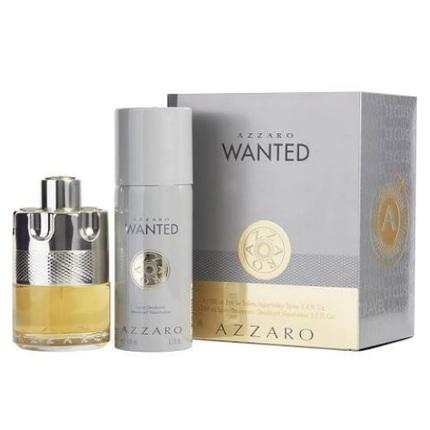 Azzaro Wanted by Azzaro 2pc Gift Set 3.4 oz EDT + 5.1 oz Deodorant Spray for Men