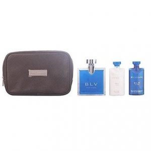 Bvlgari BLV by Bvlgari 4pc Gift Set EDT 3.4 oz + After Shave Balm 2.5 oz + Shampoo and Shower Gel 2.5 oz + Bag for Men