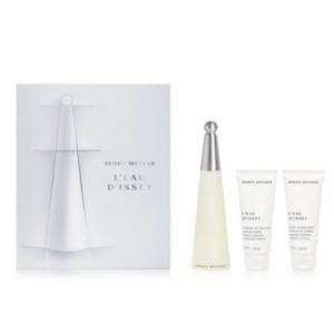 L'eau D'Issey by Issey Miyake 3pc Gift Set EDT 3.3 oz + Body Lotion 2.5 oz + Shower Cream 2.5 oz for Women