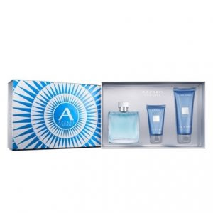 Chrome by Azzaro 3pc Gift Set EDT 3.4 oz + All Over Shampoo 3.4 oz + Aftershave Balm 1.7 oz for Men