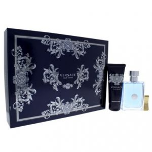 Versace Pour Homme by Versace 3pc Gift Set 3.4 oz EDT + Hair & Body Shampoo + Money Clip