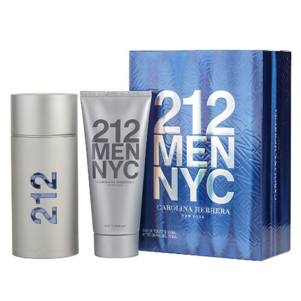 212 by Carolina Herrera 2pc Gift Set EDT 3.4 oz + After Shave Gel 3.4 oz